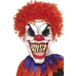 Smiffys Scary Clown Mask Foam Latex With Hair