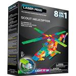 Laser Pegs Scout Helicopter