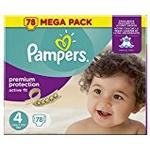 Pampers Premium Protection Active Fit Size 4, 78 Nappies