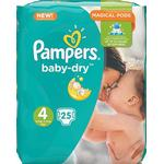Procter & Gamble Pampers Baby-Dry S4 8-16 kg 25 st