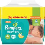 Procter & Gamble Pampers Baby-Dry S4 8-16 kg 86 st