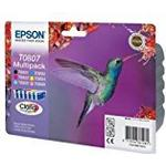 Epson T0807 Multipack - Print cartridge - 1 x black, yellow, cyan, magenta, light magenta, light cyan