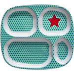 Rice Kids 4 Room Melamine Plate Star Print