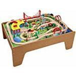 Toys For Play Train Set with Activity Table (130 Pieces)