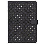 Trendz Universal Studded Quilted Folio Case Cover with Built-In Stand and Closing Tab Compatible with 9-10 Inch Tablets Including with iPad 2/3/4, iPad Air/Air 2, Samsung Galaxy Tab 2/3/4 10.1 Inch and Note 10.1, Google Nexus 9/10 and Sony Xperia Z/Z2/Z3