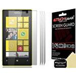 Techgear Clear LCD Screen Protector for Nokia Lumia 520 (Pack of 3)