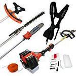 Nemaxx MT52 4 in 1 Garden Tool Hedge Trimmer Chainsaw Petrol Grass Strimmer Pole Pruner