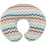 Chicco Boppy Pillow with Cotton Slipcover Colourful Chevron