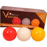 Biljardbollar Biljardbollar Ventura Tournament Pro 61.5mm 3-pack