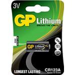 Batteri GP Litium CR123A 3 volt