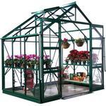 Rhino Premium Greenhouse --- 8x6 Bay Tree Green Finish