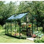 Eden Halls Halls 6x8 Supreme Curved Greenframe Greenhouse + Green Base-frame - Toughened Glass