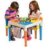 Multipurpose Lego Activity Table & 2 Chairs With Storage Bag