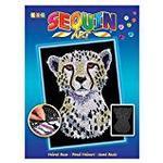 sequin art 1605 Snowy Cheetah