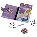 Melissa & Doug On the Go Sequin Art Craft Activity Set: 500+ Sequins and Gems and 4 Scenes - Mermaids