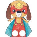 Avenue Mandarine Graffy Hand Puppet Book, husdjurssuperhjältar, 12 motiv, 24 dockor, från 5 år