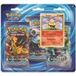 Pokémon XY-Evolutions Boosters 3 Booster Packs with Braixen Pin