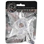 OXBALLS Master and Slave Cock Ring, Transparent