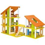 Plantoys Chalet Dollhouse with Furniture