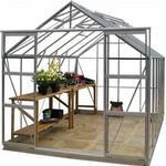 Simplicity Stableford 8x10 Plain Aluminium Greenhouse Starter Package