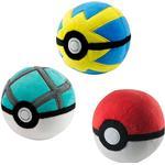 Mjukisar Nintendo - Pokeball / Pokebollar 3st (7cm)