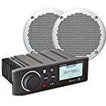 Fusion Unisex RA70NKT Radio with El602 Slimline Marine Speakers, Black, 6-Inch