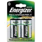 Energizer Accu 2500mAh D Rechargeable Batteries - 2 Pack