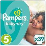 Pampers Baby-Dry Size 5 Junior Essential Pack 39 Nappies