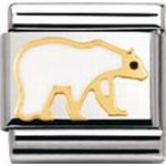 Nomination Composable Classic Earth Animals Enamel 18k Gold Polar Bear
