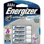 Energizer AAA Lithium Batteries - 4 Pack
