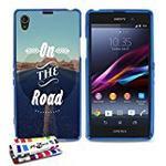 "Muzzano Extra-Slim Flexible ""On the Road"" Case for Sony Xperia Z1 - Blue"