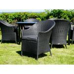Dancover Poly rattan garden chair Key West, 2 pcs., Black