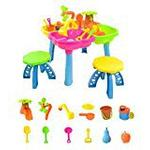 boppi® 4-Section Childrens Sand and Water Table with 13 Play Accessories & 2 Stools