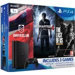 Sony PlayStation 4 Slim 1TB - Driveclub & Uncharted 4 & The Last of Us