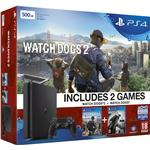 Sony PlayStation 4 Slim 1TB - Watch_Dogs 1 & Watch_Dogs 2