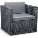 Vonhaus Grey Rattan Sofa Chair --- Additional Piece For Modular Sofa Set