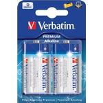 Verbatim D Alkaline 2-pack