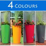 GBP 150L RainBowl Flower Water Butts with Planter in 4 Colours