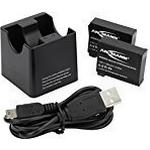 ANSMANN Action Cam Li-Ion Rechargeable Battery Charger with Microprocessor - Black