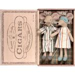 Maileg Mouse Mum & Dad in Cigarbox