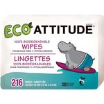 Attitude Baby Wet Wipes Refill Package 216 Pcs