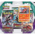 Pokémon Sun & Moon Guardians Rising Boosters 3 Booster Packs with Turtonator Promo Card