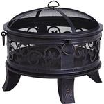 George Home 66cm Scroll Fire Pit & Log Burner
