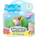 Character Peppa Pig Weebles Wobbily Figure & Base Sir George