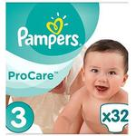 Pampers Procare Premium Protection Size 3, 32 Nappies, 5-9kg