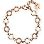 Edblad Glow Mini Multi Stainless Steel Rose Gold Plated Bracelet w. Transparent Cubic Zirconium - 19cm (3151441902)