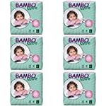 Bambo Nature Eco Nappies, X-Large/Size 6, 16 to 30 kg, 22-Piece per Pack, Pack of 6