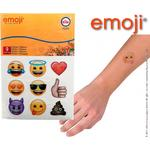 Happy People Glitzer-Tattoos emoji, im Display mit 15 Stück