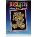Teddy Bear Sequin Art Kit