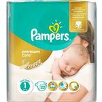 PAMPERS Premium Care Size 1 Newborn (22 pcs)
